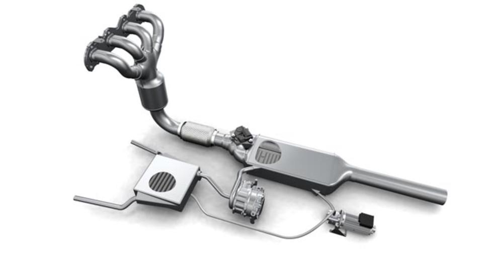 Das Exhaust Heat Power System wandelt fahrzeugeigene Abgaswärme in Elektrizität für Hybridfahrzeuge um.