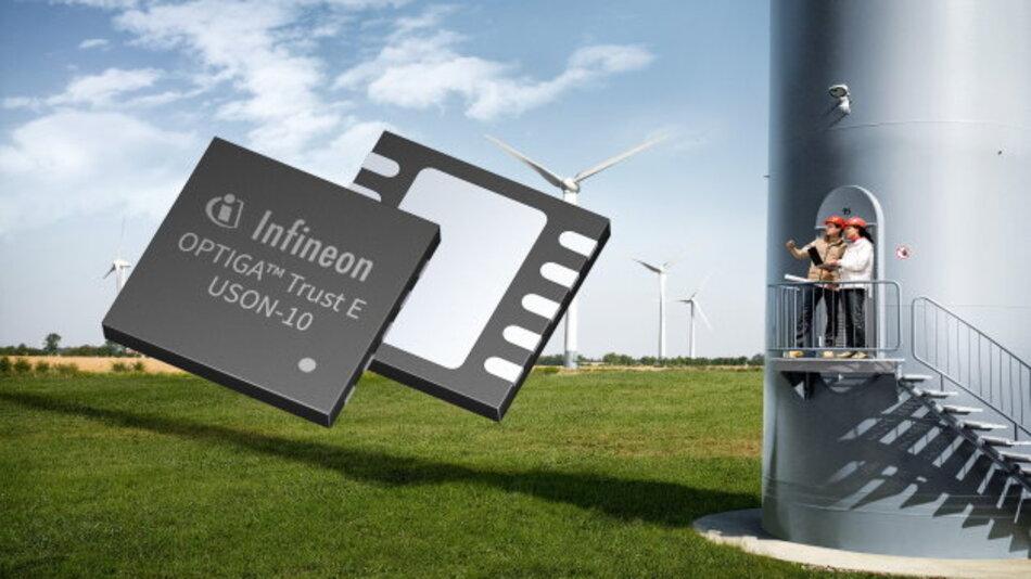 Die neue OPTIGA Trust E-Sicherheitslösung von Infineon schützt wertvolles geistiges Eigentum davor, angegriffen, analysiert, kopiert oder manipuliert zu werden. Dadurch können beispielsweise Hersteller von Windkraftanlagen Schäden durch gefälschte Ersatzteile abwenden.