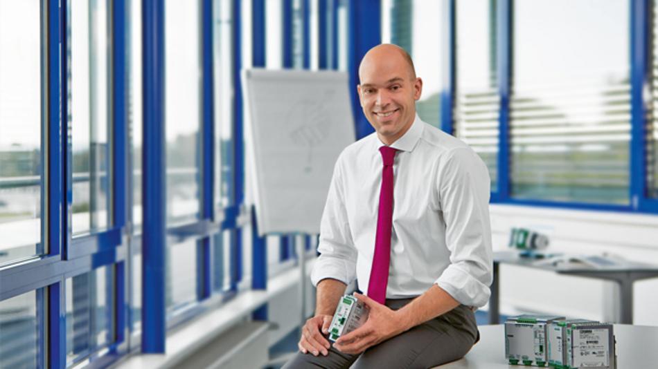Michael Heinemann ist Geschäftsführer von Phoenix Contact Power Supplies »Grundsätzlich zeichnet sich der Trend ab, dass die Jagd nach immer besseren Wirkungsgraden vorbei ist. Der Markt verlangt eher robuste Geräte mit einem hohen Wirkungsgrad.«