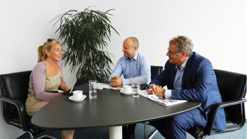 Frank Hansen und Frank Stephan im Gespräch  mit Karin Zühlke, Markt&Technik