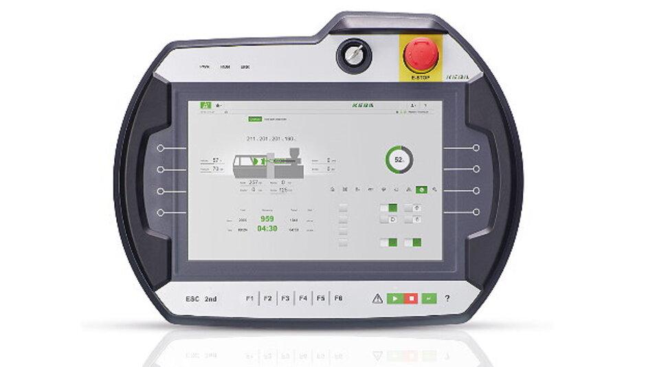 Ergonomisch gestaltet ist das mobile Bedienterminal »KeTop T200« von Keba.