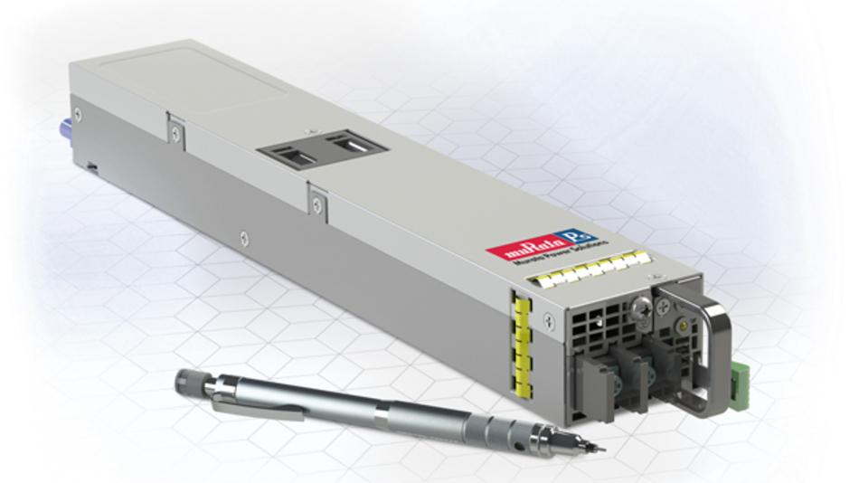 Eine Leistungsdichte von 1,7 W/cm3  zeichnet die Front-End-Module  der Serie D1U54-D-1200 aus.  Sie bieten eine Ausgangsleistung  von 1200 W und eine Ausgangs- spannung von 12 VDC.