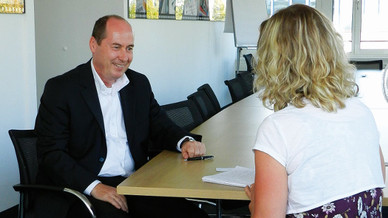 André Vander Stichelen, Rohde & Schwarz im Interview mit Nicole Wörner