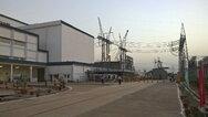 Das Umspannwerk in Agra der 800-KV-Ultrahochspannungsübertragungsleitung (UHGÜ) von ABB, das den Strom von dort zur Verteilung ins Netz von in Nordindien einspeist.