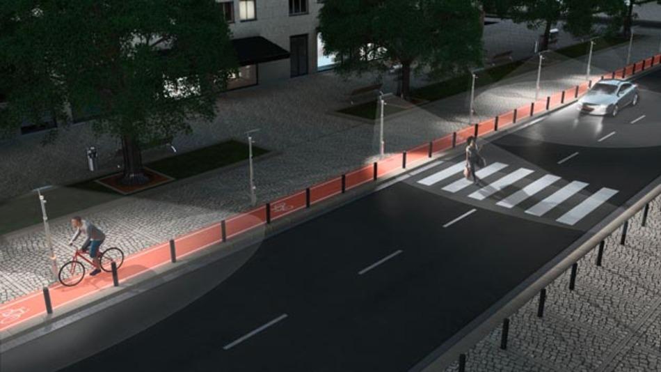 Intelligente Straßenlampen können auch eine wichtige Rolle beim automatisierten Fahren spielen.