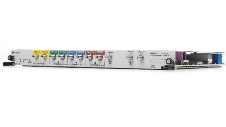 Der Arbiträrsignalgenerator M8196A von Keysight ist prädestiniert für die Forschung an Kommunikationsanwendungen mit 100 Gb/s, 400 Gb/s und 1 Tb/s.