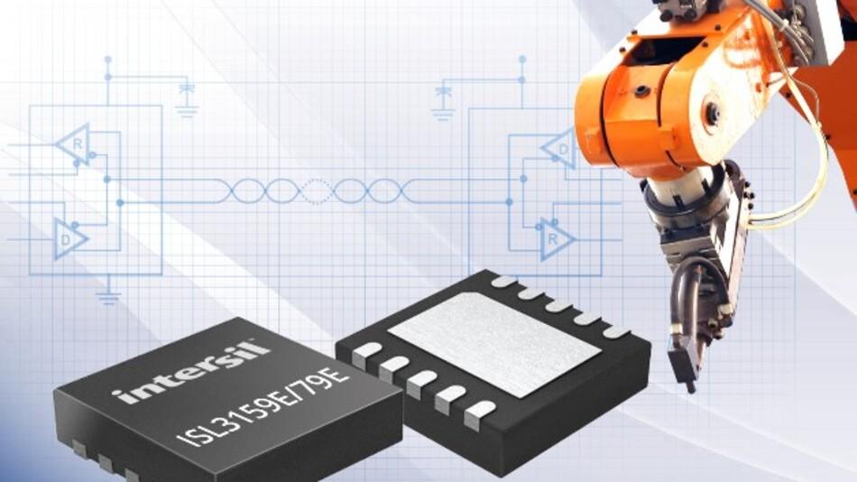 Intersils störfeste RS-422-/RS-485-Transceiver-ICs ISL3159E und ISL3179E (Vertrieb: SE Spzial-Electronic) bieten eine Datentransferrate von bis zu 40 MBit/s.