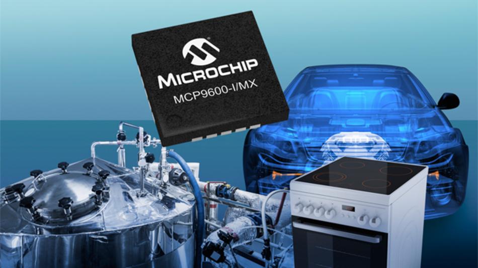Microchip stellt mit dem MCP9600 den weltweit ersten IC mit Temperaturmessschaltung vor. In diesem IC sind die Messschaltung, ein präziser Temperatursensor und ein akkurater, hochauflösender ADC mit vorprogrammierter Recheneinheit integriert. Der IC wurde insbesondere für die standardisierten Thermoelementtypen K, J, T, N, S, E, B und R entwickelt. Thermoelemente sind aufgrund ihrer Robustheit und Genauigkeit in rauer Umgebung und bei hoher Temperatur sowie ihrer Fähigkeit, Temperatur über einen extrem weiten Bereich zu messen, die am vielseitigsten einsetzbaren Temperaturmessgeber. Der MCP9600 vereinfacht Thermoelementdesigns durch Integration vieler diskreter Komponenten auf einem Chip, was Platz auf der Leiterplatte spart sowie Kosten und Energiebedarf senkt. Zu den weiteren Merkmalen des MCP9600 gehört ein Digitalfilter für die Temperaturdaten, das die Auswirkungen auf Temperaturschwankungen, systeminternes Rauschen und elektromagnetische Interferenzen minimiert. Im Shutdown-Modus wird der Gesamtenergiebedarf reduziert, während seine vier anwenderprogrammierbaren Alarmausgänge den Overhead des Mikrocontrollers und den Codeaufwand reduzieren, was wiederum das Design vereinfacht. Und schließlich sind die Abmessungen des 20-poligen mQFN-Gehäuses von 5 mm x 5 mm erwähnenswert, was nicht nur den Platzbedarf, sondern auch die Herstellungskosten senkt.