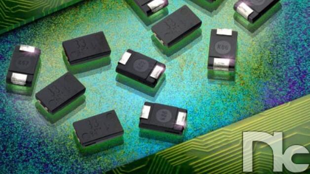 Kapazitätswerte von 10 bis 100 µF mit Nennspannungen von 10 bis 35 VDC haben NIC Components' Solid-Polymer-Aluminium-Elektrolytkondensatoren der NSPX-Serie (Vertrieb: wts).