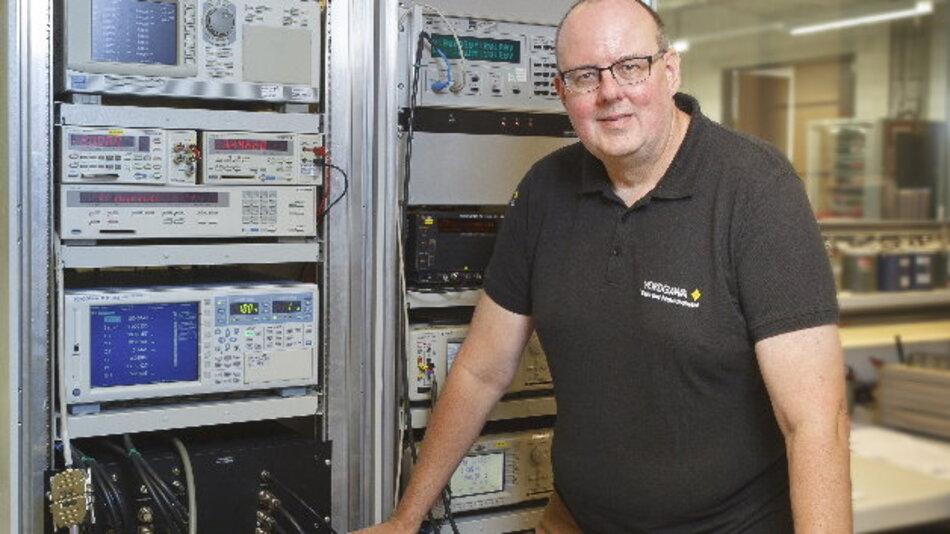 Er ist der »Kopf« des neuen Kalibrierlabors:  Eric Krohn, Manager European Standards Laboratory