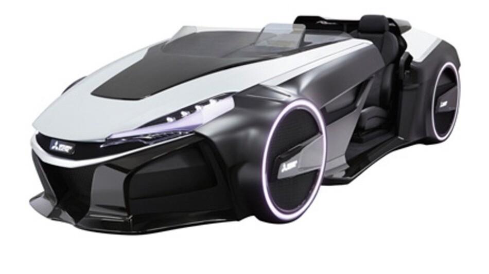 Der Emirai 3 xDAS verkörpert das Auto der Zukunft, wie es sich Mitsubishi vorstellt.