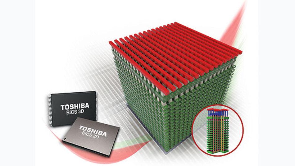 Dreidimensionale Chips, werden eine erhöhte Speicherdichte und mehr Speicherkapazität haben.