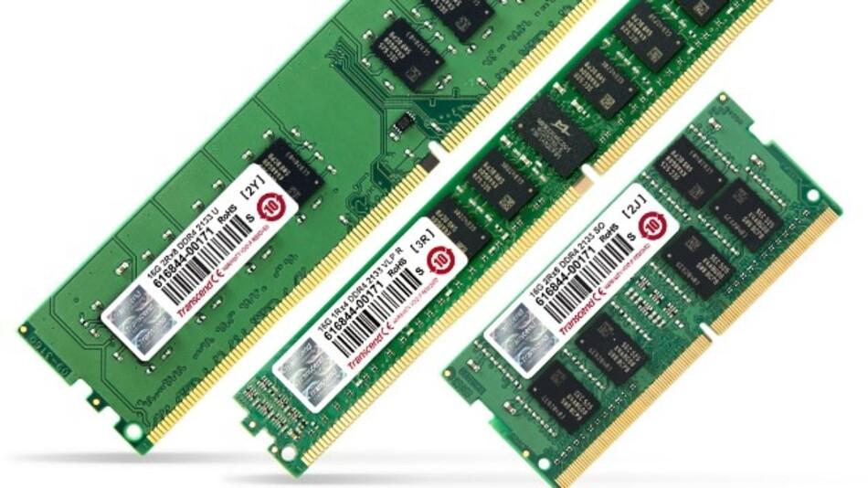 Dank einer Betriebsspannung von 1,2 V benötigen Transcends industrielle DDR4-DRAM-Module 40 % weniger Strom als 1,5-V-Standard-DDR3-DIMMs.