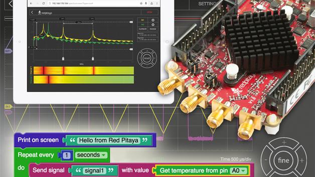 Für den Red Pitaya wird nun eine visuelle Programmierung angeboten.