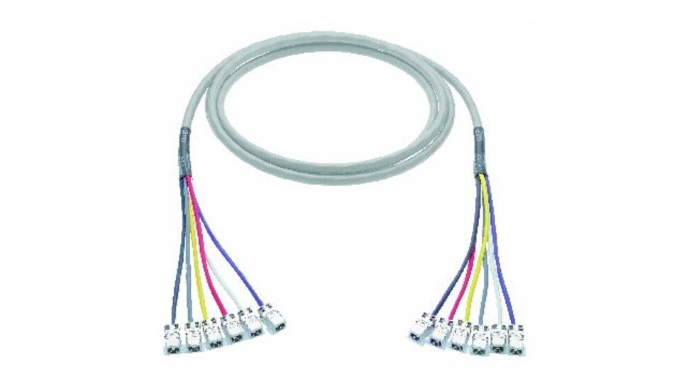 Das 24-paarige Kat.-6A-Kabel für Links bis 60 Meter ist beliebig konfigurierbar.