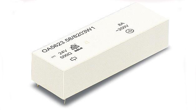 Bild 1. Das achtpolige Sicherheitsrelais OA 5623 entspricht der Forderung nach immer mehr Kontakten bei gleichzeitig kompakter Bauform.