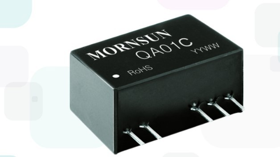 Mornsuns DC/DC-Wandler QA01C (Vertrieb: MEV) mit den zwei Spannungen +20 V/-4 V adressiert explizit die SiC-MOSFETs von Cree.
