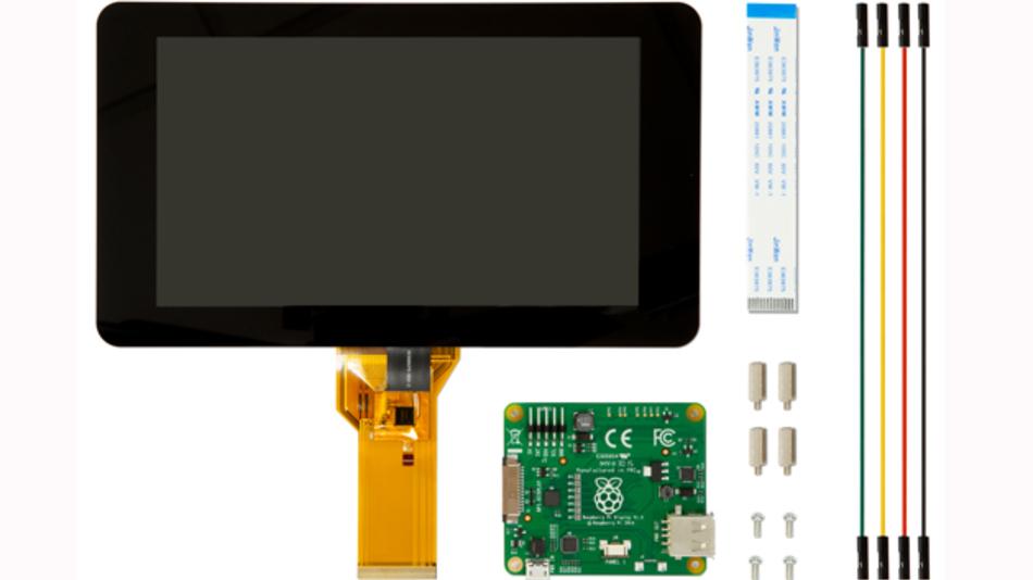 Zubehör für den Raspberry Pi: ein 7-Zoll Touch-Display von Farnell.