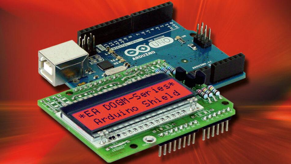 Electronics Assemblys kompakte LCD-Anzeigen können über die Arduino-Plattform betrieben werden.