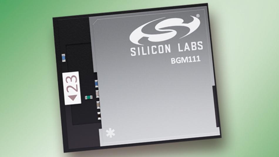 Transceiver-Modul Blue Gecko BGM111 von Silicon Labs mit integrierter Antenne und Software Stack für Bluetooth Low Eenergy (BLE)