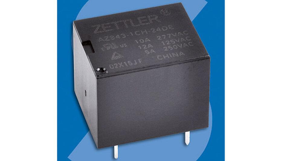Bild. Leiterplattenrelais vom Typ AZ943 produziert Zettler Electronics für Applikationen, bei denen maximal 300 V Wechselspannung und 15 A Schaltstrom für das Ansteuern von Lasten gefordert sind.