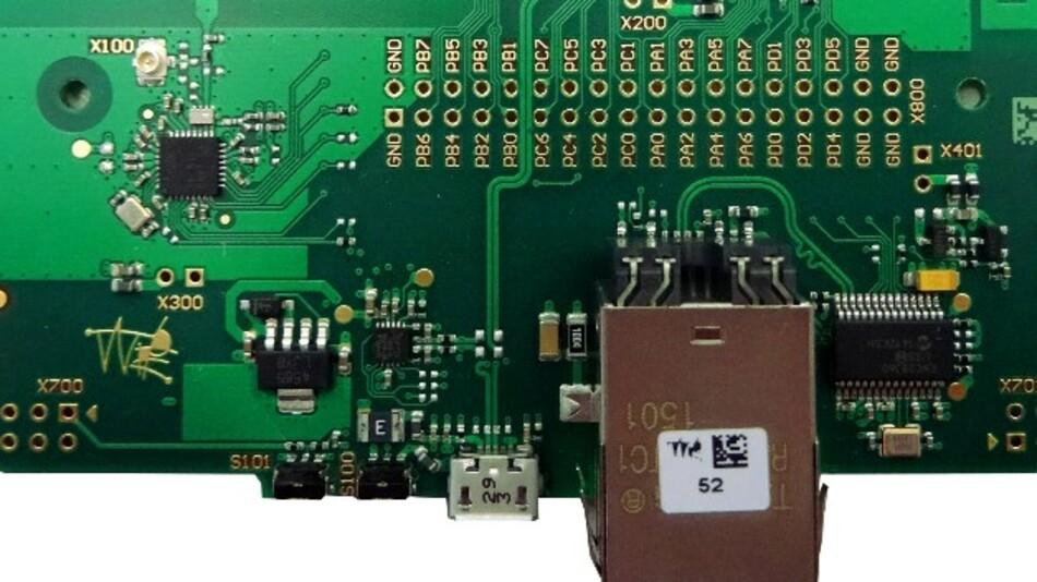Weptechs 6LoWPAN-IoT-Gateway-Board (Vertrieb: RS Components) arbeitet als Border-Router und verbindet ein drahtloses IPv6-Netzwerk mit dem Internet.