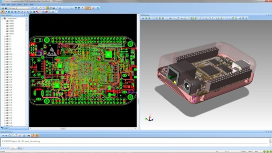 PADS 3D bietet Designern und Ingenieuren einen virtuellen Prototypen der vollständigen Elektronikbaugruppe