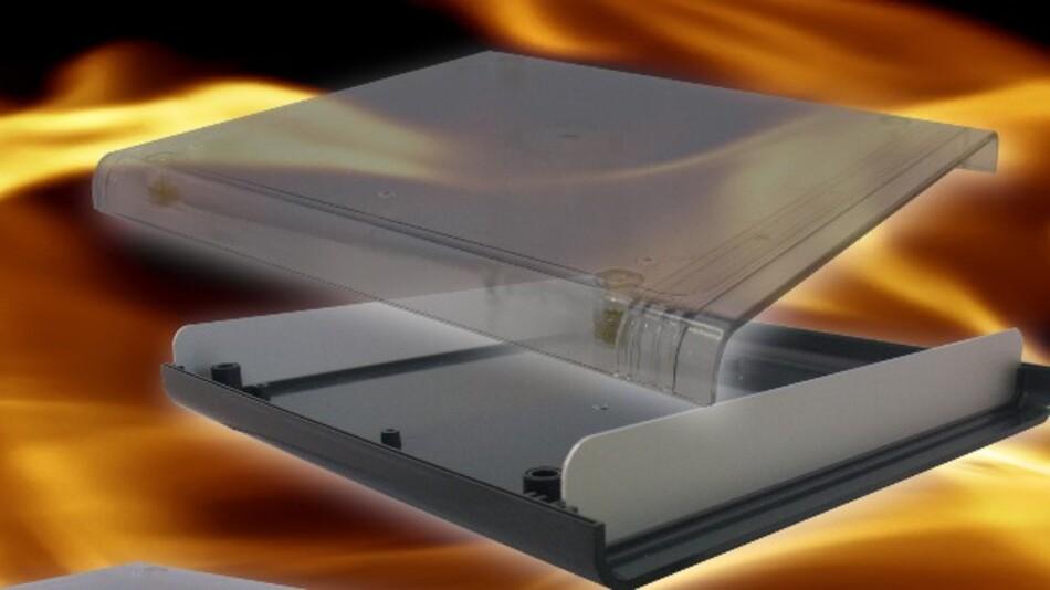 Der flammhemmende Kunststoff UL94-V0-Polykarbonat sorgt in Vero Technologies' Gehäuse Softstyle neben dem Flammschutz auch für eine hohe UV-Stabilität.