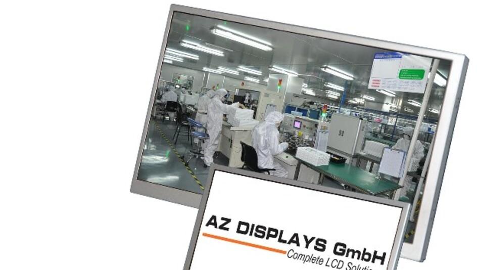 Eine Helligkeit von bis zu 1300 cd/m2 hat das 4,3-Zoll-TFT-LC-Display ATM0430D12-M von AZ Displays.