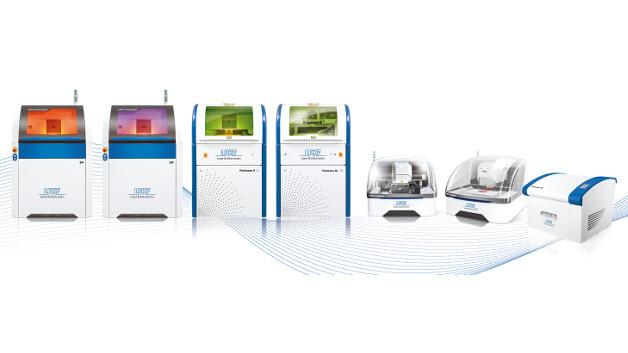 Eine breite Palette an Lasersystemen – LPKF präsentiert sich als Spezialist für Lasersysteme in Forschungs- und Entwicklungsabteilungen.