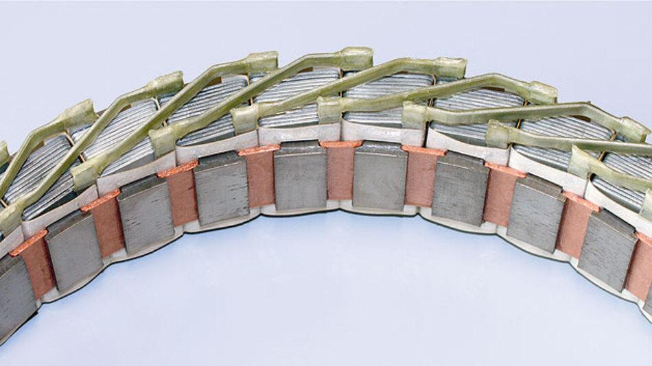 Bild 2. Der vom Fraunhofer IFAM entwickelte Radnabenmotor setzt auf gegossene Aluminiumspulen.