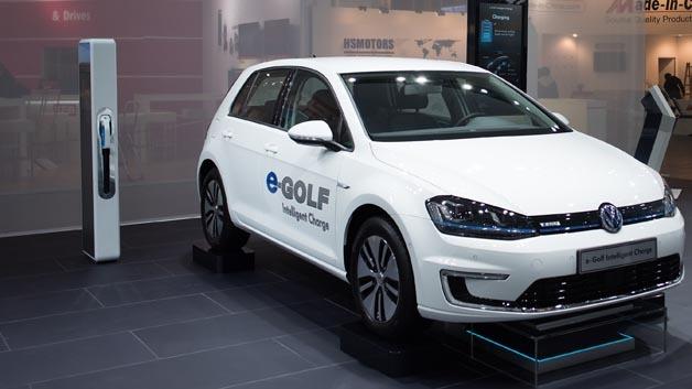 Testobjekt Volkswagen eGolf für eine kulturvergleichende Studie zur Elektromobilität der DHBW Stuttgart.