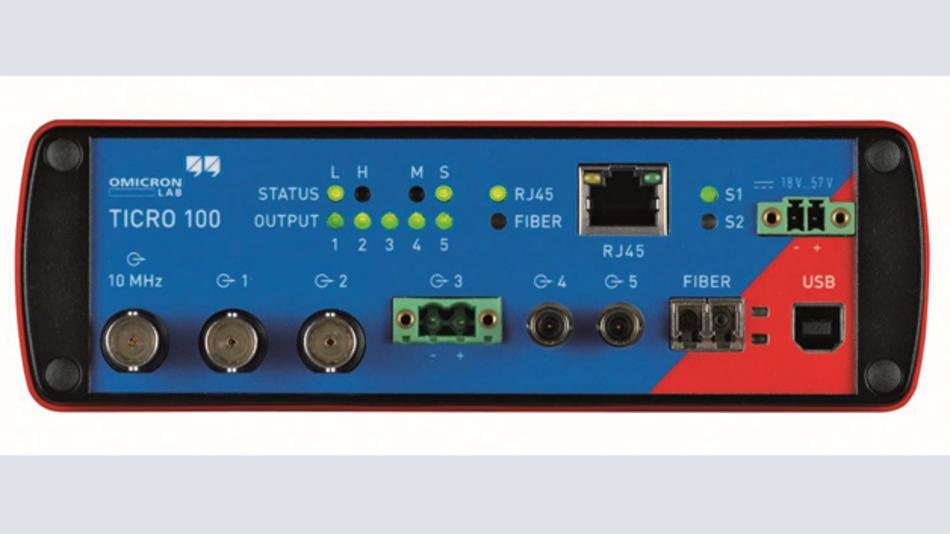 Bild 2: Der Ticro 100 hat frei konfigurierbare koaxiale, optogekoppelte und optische Ausgänge, an denen auch durch den Benutzer selbst konfigurierte Zeitreferenzsignale und Triggerimpulse ausgegeben werden können