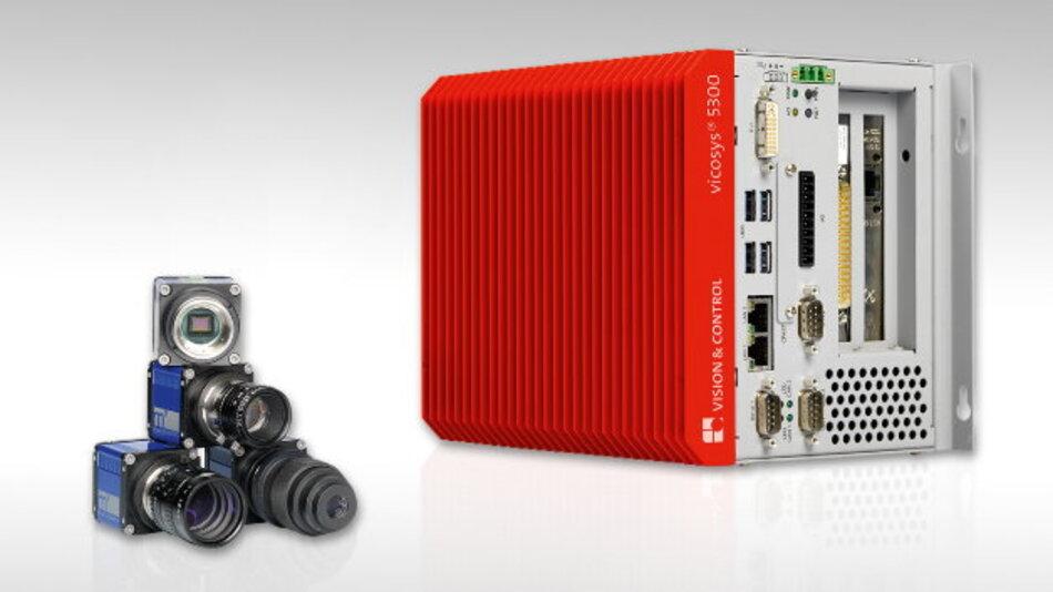 In einem kompakten Industrie-PC-Gehäuse sind die Mehrkamera-Bildverarbeitungs-Systeme der Baureihe »Vicosys« von Vision & Control untergebracht.