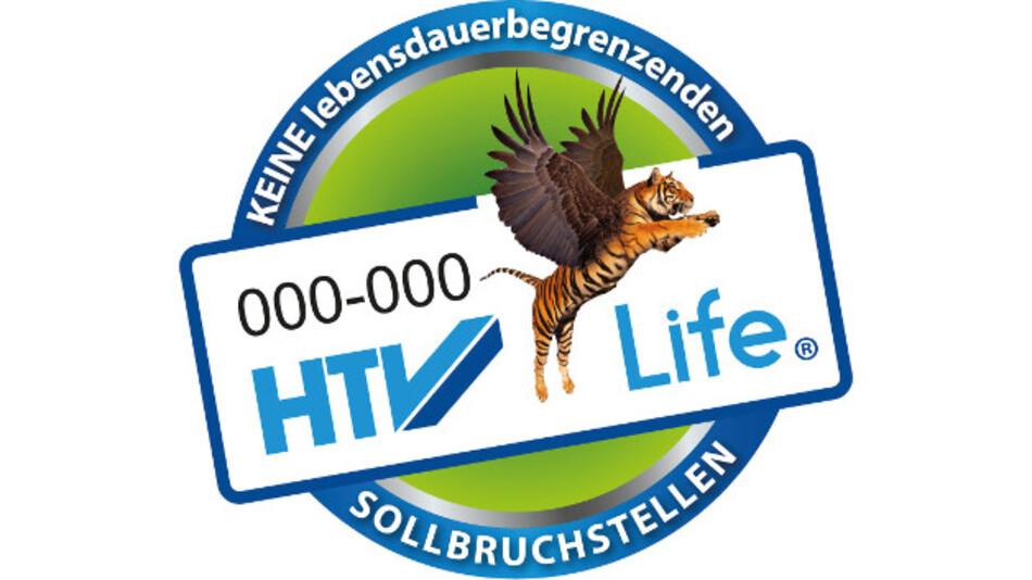 Das HTV-Life-Prüfzeichen für den Umwelt- und Verbraucherschutz zeichnet Produkte ohne geplante Obsoleszenz aus, die bei 35 °C und geringer relativer Luftfeuchtigkeit gelagert werden