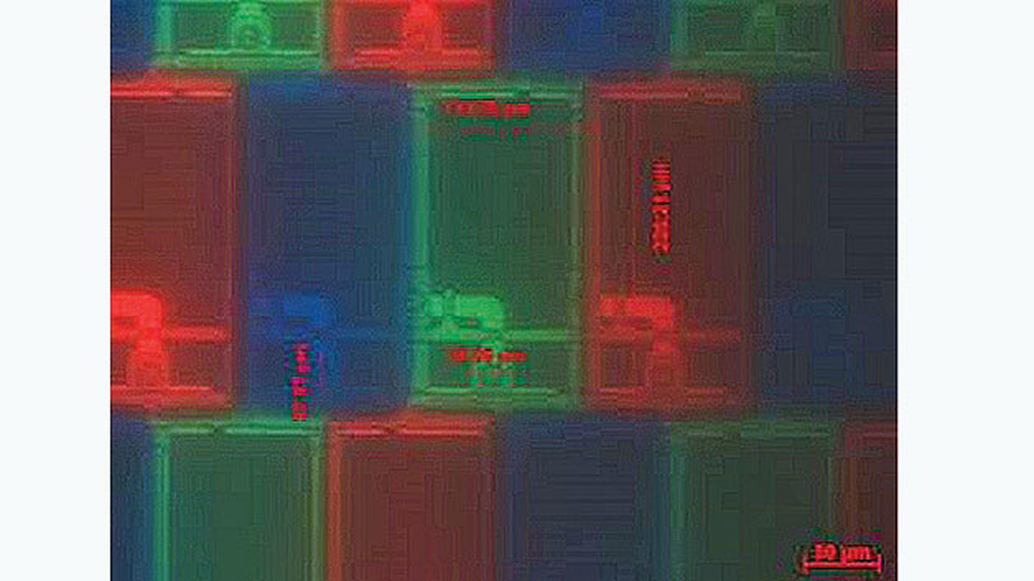 Bild 2. Vierhundertfache Vergrößerung eines TFT-Displays.
