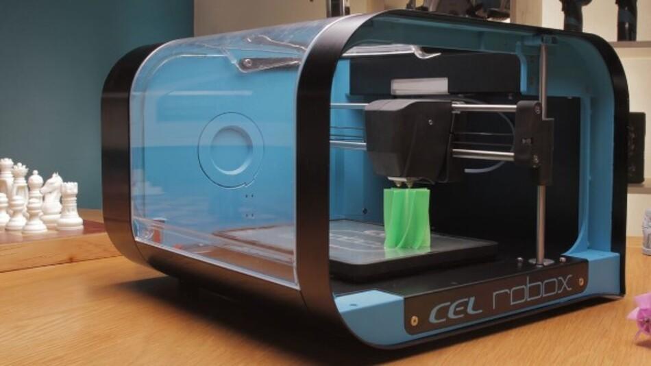 Das proprietäre Dual-Düsensystem von CELs 3D-Drucker Robox (Vertrieb: RS) sorgt für schnellen Druck und gleichzeitig detaillierte Oberflächen.