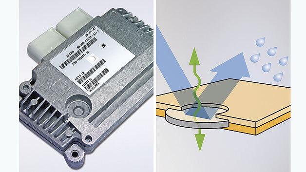 Bild 1. Druckausgleichselemente (DAE) verschließen Gehäuseöffnungen wasser- und staubdicht. Werden sie direkt ins Typenschild integriert, reduzieren sich die Prozesskosten um bis zu 40 %.