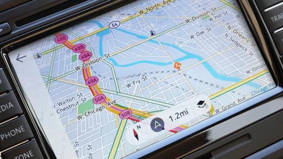 Kartenmaterial von Here wird in Volvos Sensus-In-Car-System integriert.