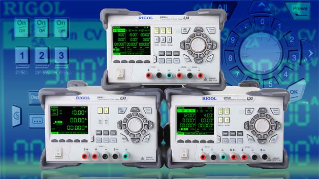 Die DP800-Serie von Rigol wird um die Modellvarianten DP831, DP821 und DP811 erweitert.