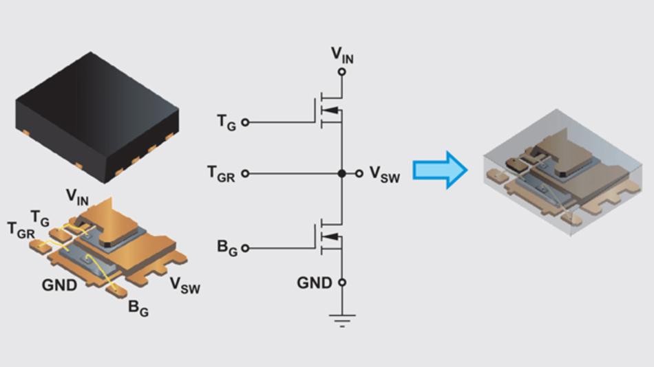 Bild 1: Stacked-FET-Schalter im SO8-Gehäuse