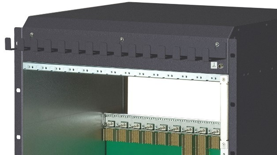 Bei Pentairs modularem 14-HE-ATCA-System »Schroff AdvancedTCA ECO Modular« lassen sich alle Funktionen wie Kühlung und Stromversorgung bedarfsabhängig anpassen.