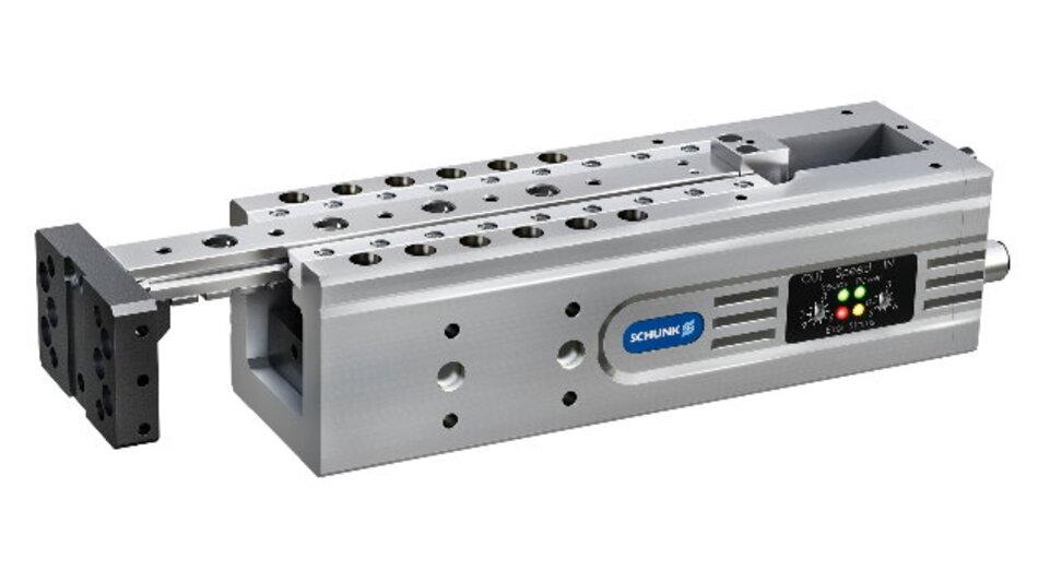 Die ELP-Module können laut Hersteller Schunk pneumatische Module 1:1 ersetzen.