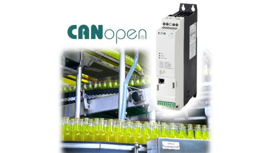 Unter dem Namen »PowerXL DE11« bietet Eaton jetzt einen Drehzahlstarter mit integrierter CANopen-Schnittstelle und steckbaren Steuerklemmen.