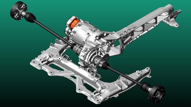 Mehrkörpersimulationsmodell eines elektrischen Antriebsstrangs