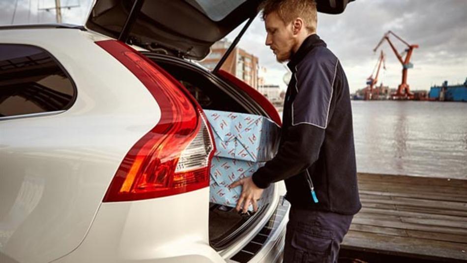 Einfach seine Waren ins Fahrzeug liefern lassen - mit Volvo