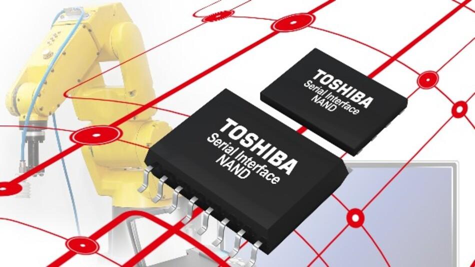 Als preisgünstige NOR-Flash-Alternative hat Toshiba seine Serie von SLC-NAND-Flash-Speichern mit 1, 2 und 4 GBit konzipiert.