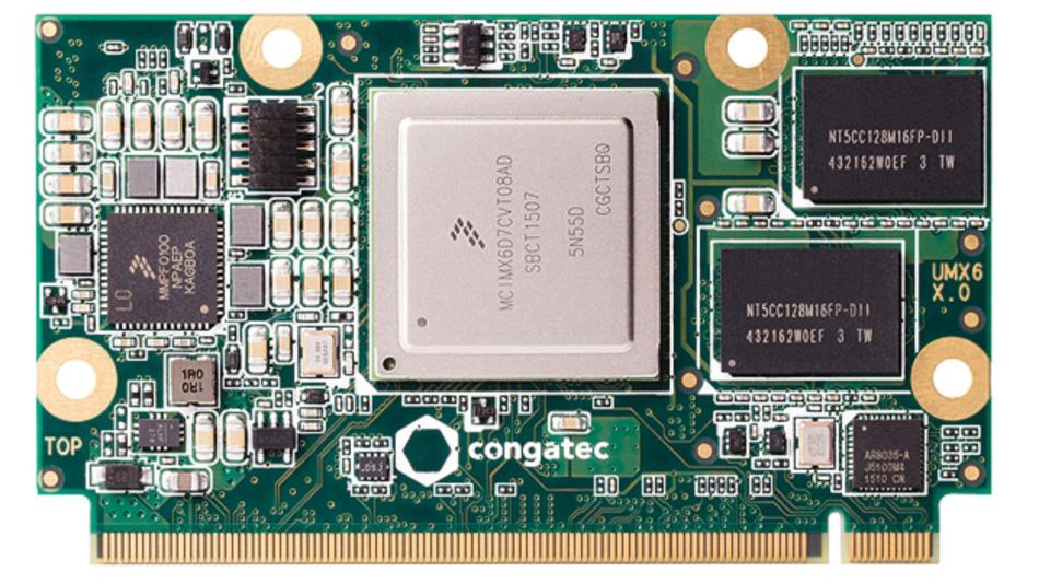 Bild 1. Das conga-UMX6 ist ein µQseven-Modul mit i.MX6-Prozessor in Single- oder Dual-Core-Ausführung.