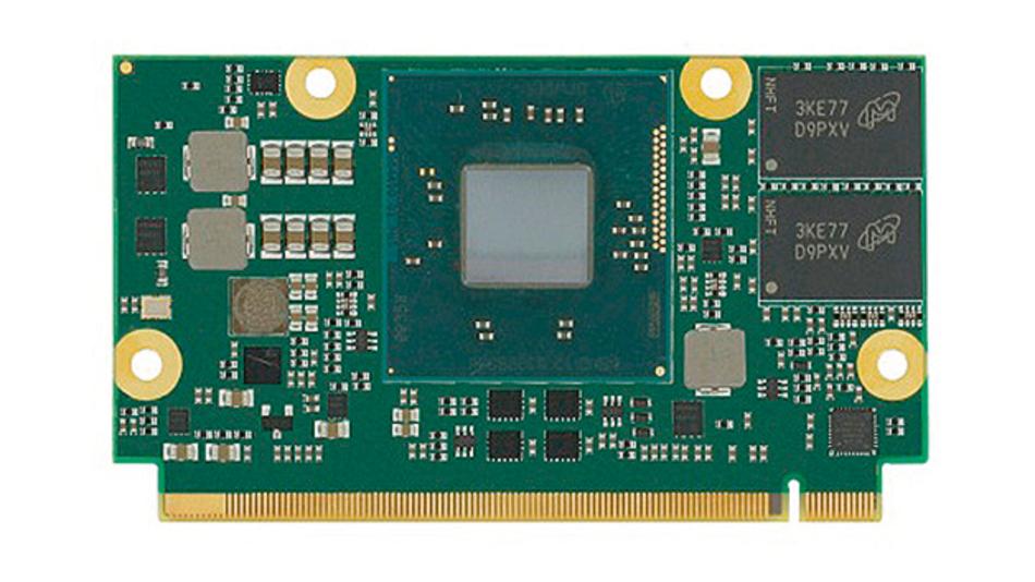 Bild 2. Auch der Intel Atom passt auf ein µQseven-Modul, seit der Chipsatz in den Prozessor integriert ist. Seco hat mit dem μQ7-BT-J ein entsprechendes Modul im Angebot.