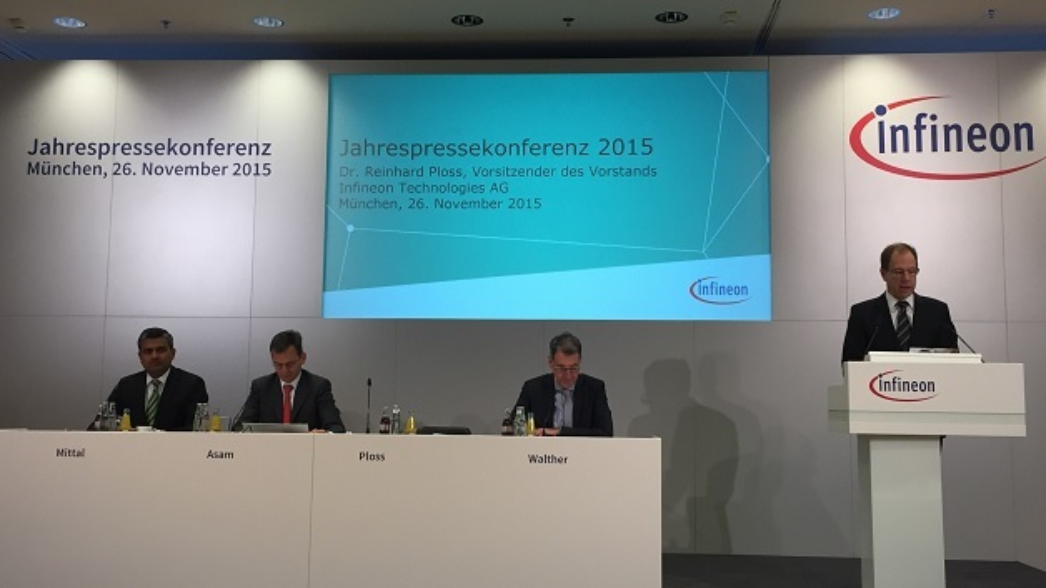 Der Infineon-Vorstand präsentierte erfolgreiche Zahlen.